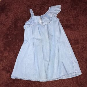 Other - One shoulder jean dress